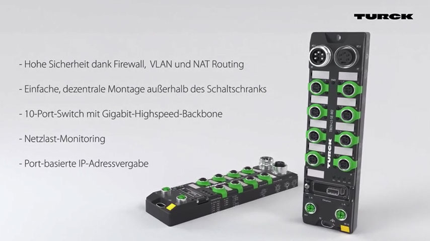 Ethernet Switch - Sicherer Turbolader für IIOT
