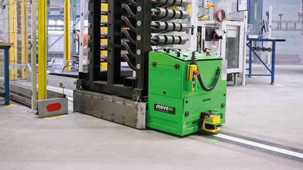 Rfid Guides Agv In Suspension Production Turck Your